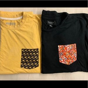 Two Pacsun Pocket Tees